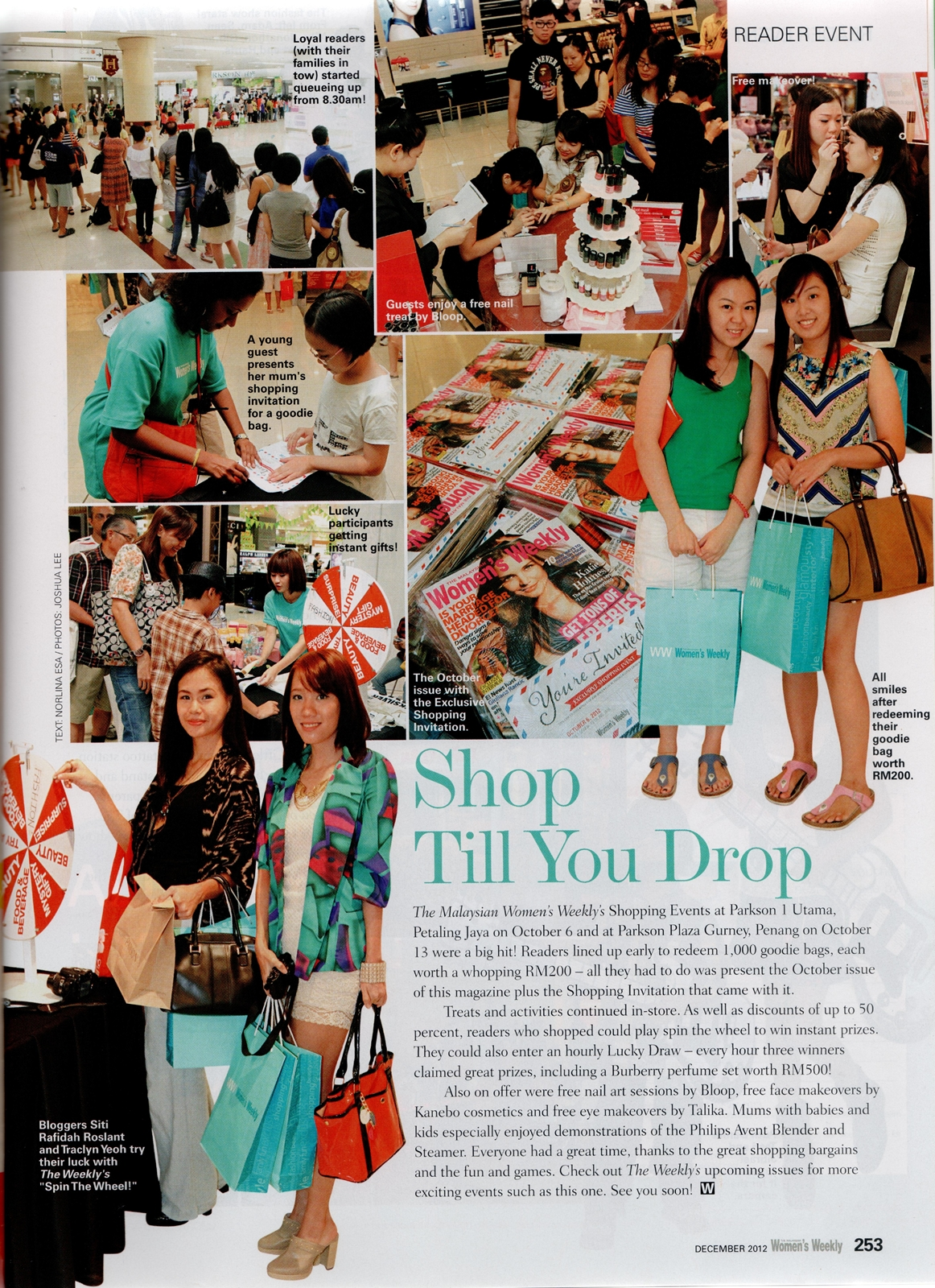 Women's Weekly December 2012 Feature
