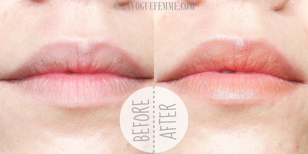 Maybelline Baby Lips Electro Lip Balm in Oh Orange Before & After