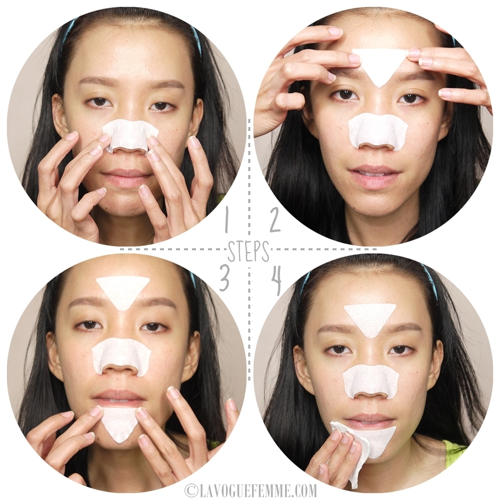 Biore T-Zone Cleansing Strip Pore Pack How To