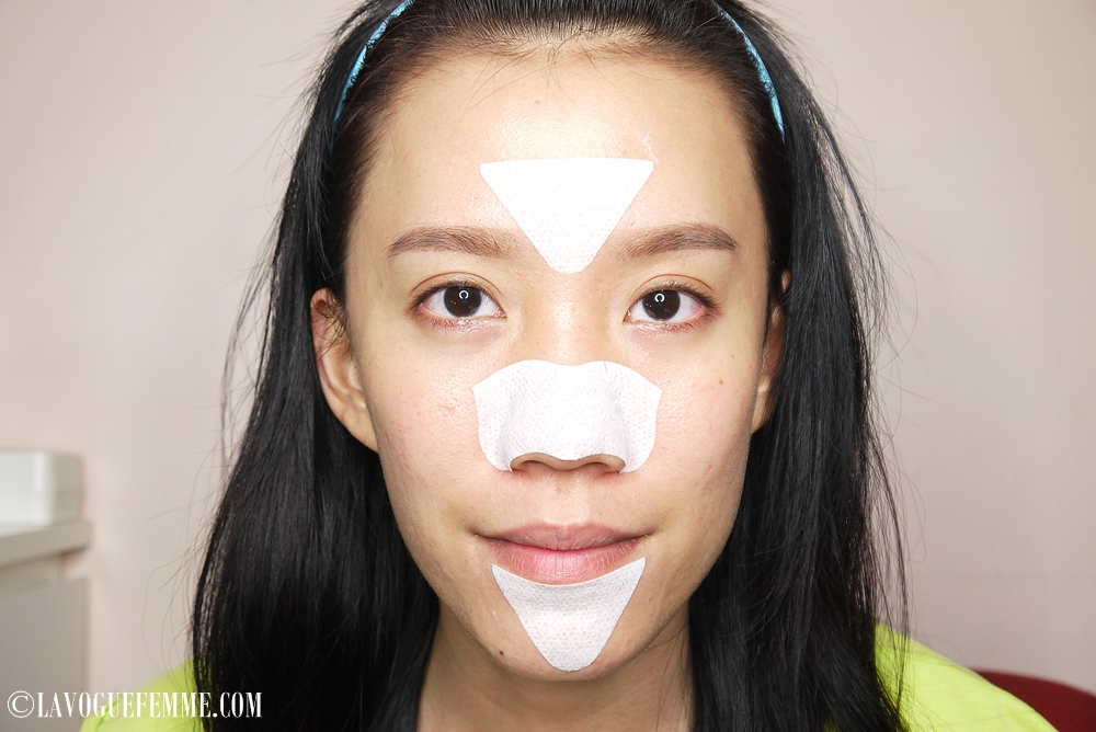Biore T-Zone Cleansing Strip Pore Pack On Face