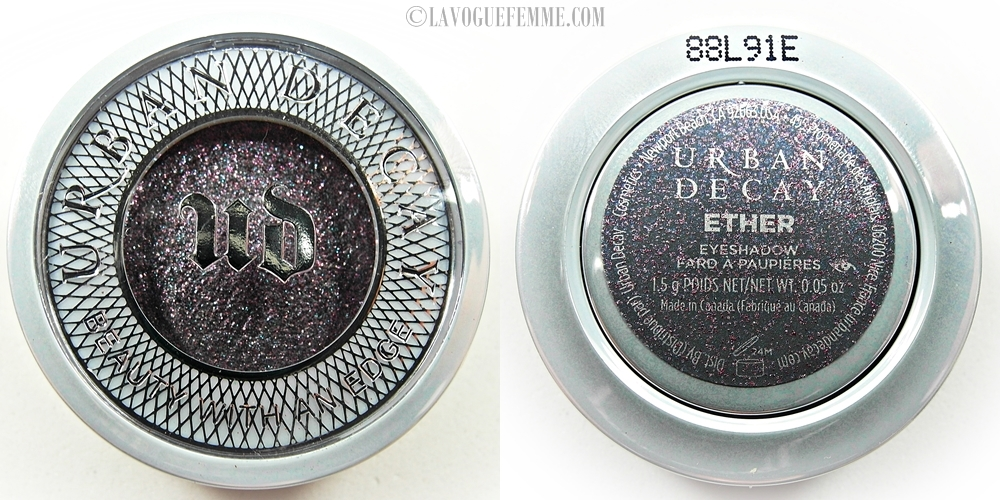 Urban Decay Moondust Eye Shadow in Ether Front & Back