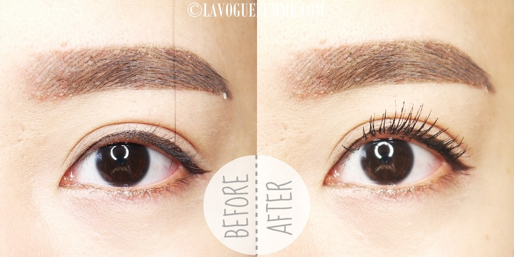 Urban Decay Perversion Mascara Before & After
