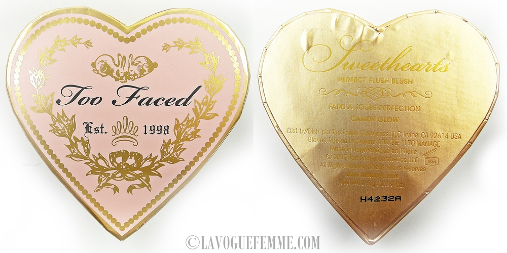 Too Faced Sweethearts Perfect Flush Blush in Candy Glow Front Back